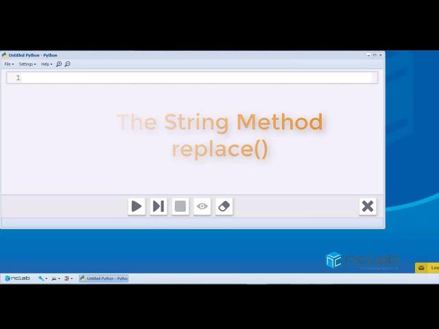 Python String Method replace()