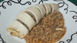 Squid Stuffed With Rice And Herbs Recipe