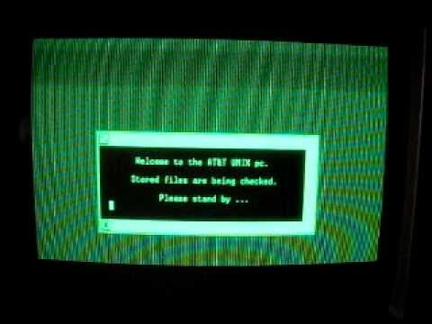 AT&T Unix PC booting