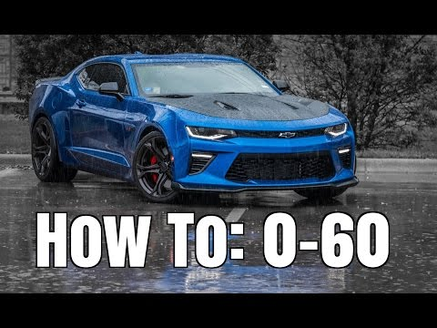 How To: Best 0-60 Time in a Manual Transmission Car (6th Gen Camaro)