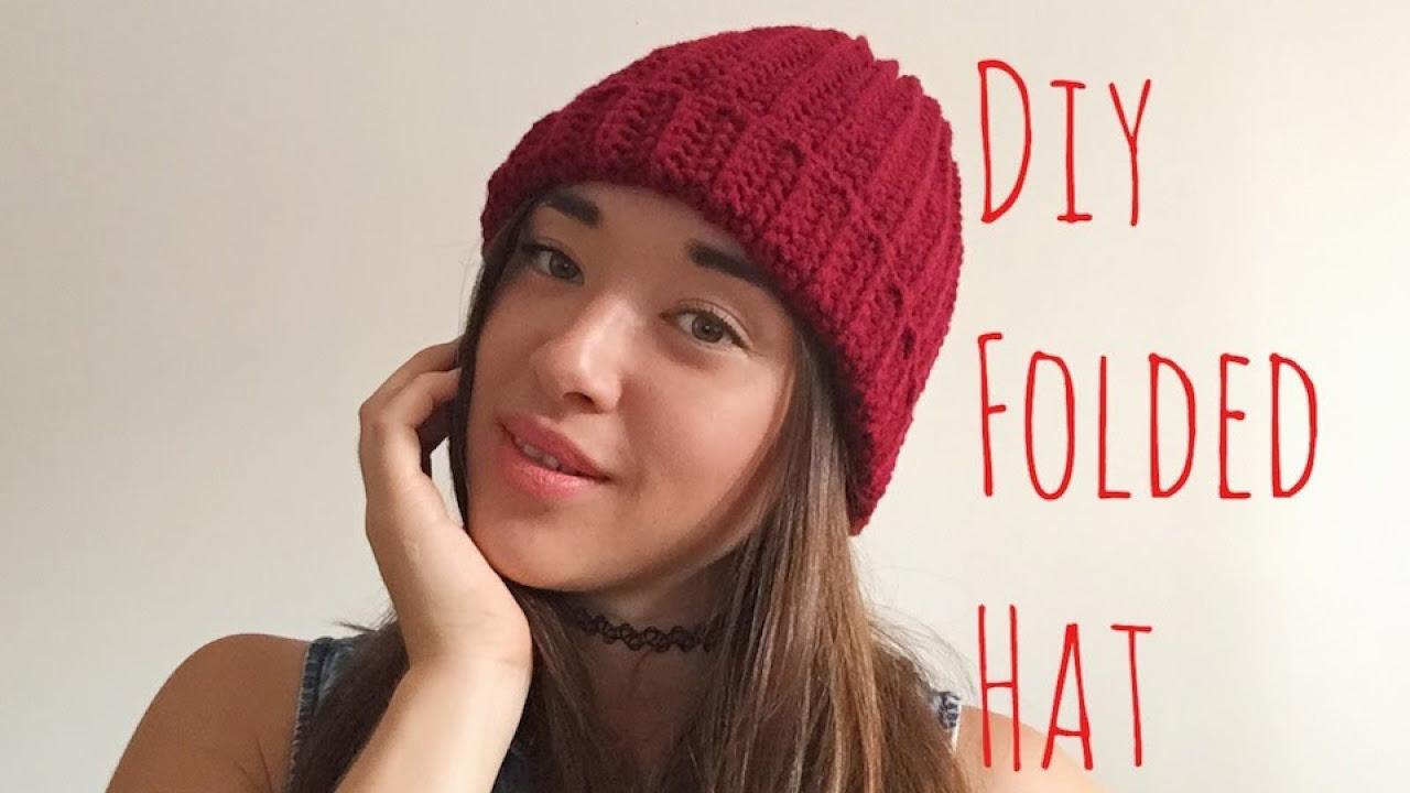 8b1ed501 How To Crochet A Beanie for Beginners! - YouTube