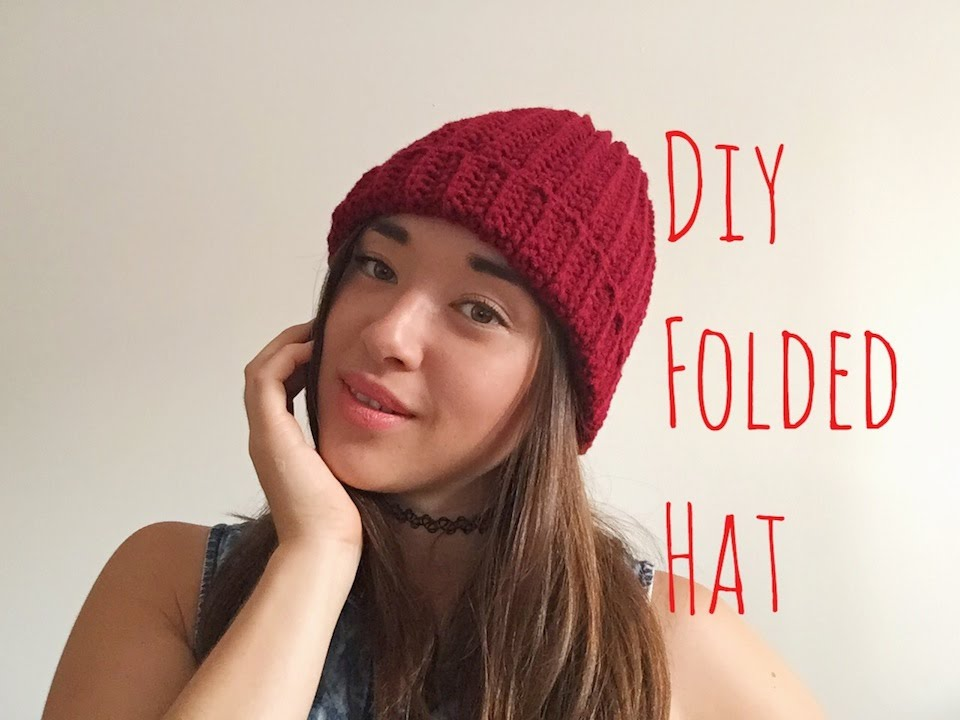 How To Crochet A Beanie for Beginners! - YouTube