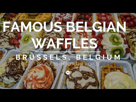 The World's Famous Belgian Waffles in Belgium!