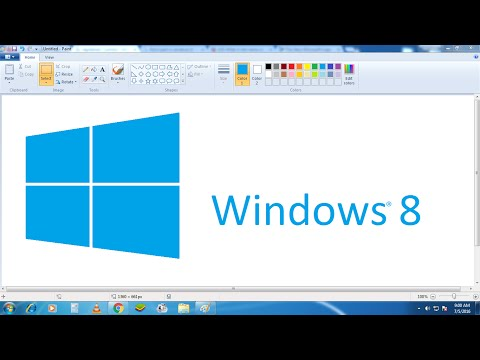 How To Draw Windows 8 Logo In Microsoft Paint From Scratch!