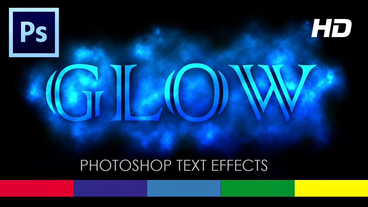 How to make text glow in photoshop cs6 tutorial video youtube baditri Choice Image