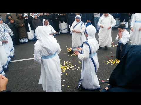 Missionaries of Charity in Newark,  NJ Dec 12, 2017. The traditional song and dance after profession