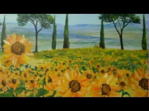 Dipingere:Il Campo di Girasoli, la sequenza di immagini. - YouTube