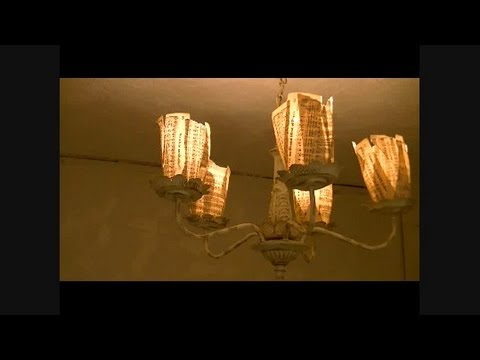 Well-liked Chic on the Cheap: Make a Paper Lamp Shade - YouTube YW69