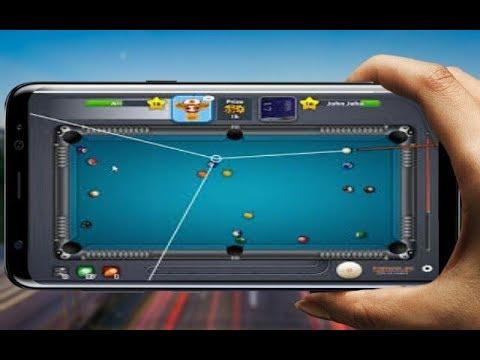 تهكير لعبة 8 Ball Pool إطالة الخط المساعد للاندرويد