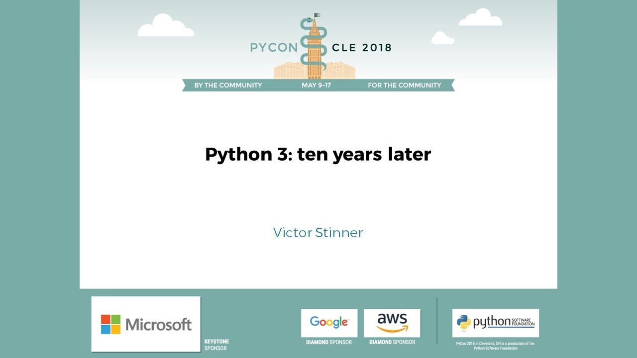 Image from Python 3: ten years later