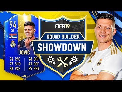 NEW REAL MADRID SIGNING LUKA JOVIC SQUAD BUILDER SHOWDOWN!! - FIFA 19 ULTIMATE TEAM