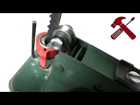 Ремонт электролобзика, замена упорного ролика