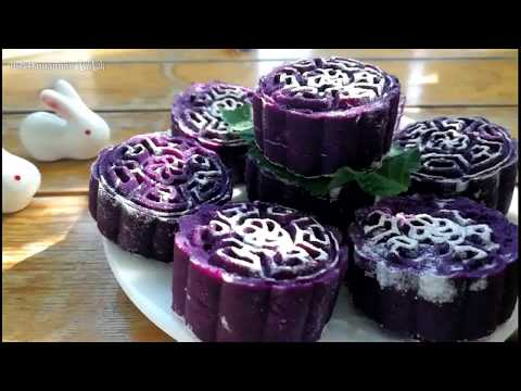 How to make purple potatoes cake - 简单做小点心
