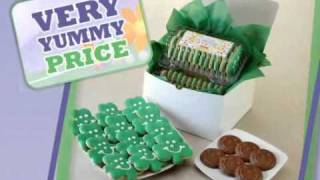 St. Patrick's Day Gift Basket - Shamrock Cookies And Chocolates