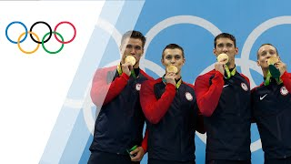 USA takes gold in Men's 4x100m Freestyle Relay