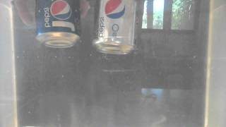 "Diet and ""Regular"" Cola Cans Floating"