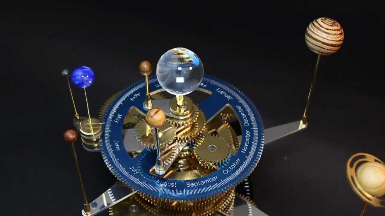 My Orrery In Brass Aluminum Acrylic Corian And Exotic