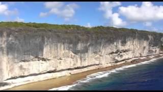 Envol polynésien : Makatea, vue du ciel