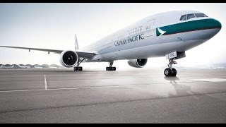 cathay pacific first class   hong kong to chicago