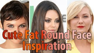 30 Best Cute Fat Round Face Hairstyles for Women l Short Medium Long Haircuts