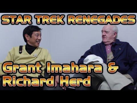 Grant Imahara & Richard Herd On Set - Star Trek Renegades