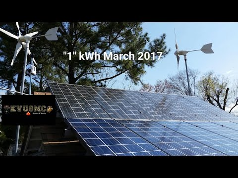 "Solar And Wind Home Power Bill ""1"" kWh March 2017 By KVUSMC"