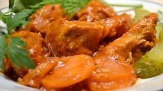 Домашние видео рецепты - тушеная свинина в мультиварке