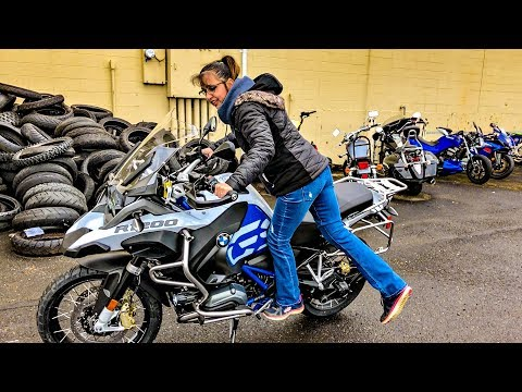 She Can Ride a GSA Low!! • R1200GSA Rallye Test! | TheSmoaks Vlog_878