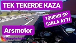 200KM ILE TEK TEKERDE KAZA!