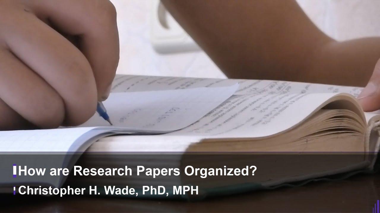 Organize a research paper