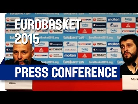 Serbia v Czech Republic - Post Game Press Conference - Re-Live - Eurobasket 2015