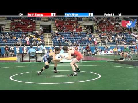 Fargo 2012 100 Round 2: Brock George (Utah) vs. Noah Ajram (Iowa) streaming vf