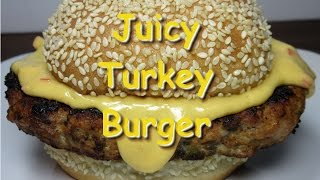 Juicy Turkey Burgers With Chipotle Cheese Sauce Recipe