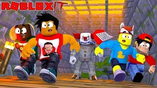ROBLOX IT - IT THE SCARY CLOWN CHASES THE LITTLECLUB THROUGH THE SEWERS!!