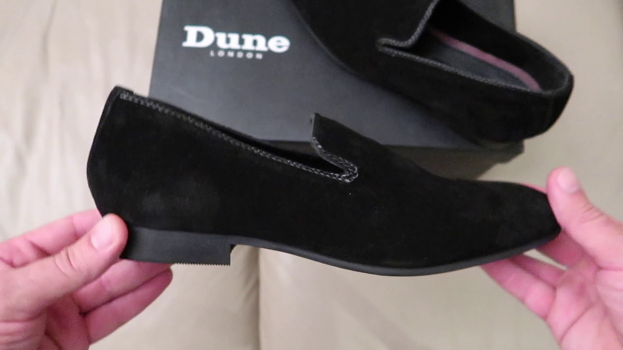 Dune Wide Fit Suede Slipper Loafers