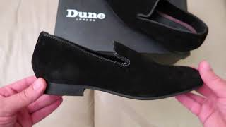 Dune Wide Fit Suede Slipper Loafers Black Suede Asos Haul unboxing