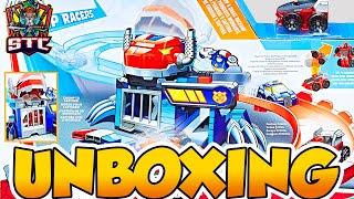 Playskool Heroes Transformers Rescue Bots Flip Racers Pista de Captura de Dinobot