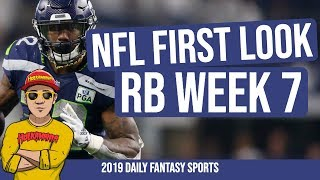 Week 7 NFL First Look RUNNING BACK 🏈 RB Week 7   NFL Cash Games