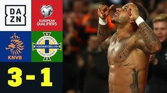 Doppelpacker Memphis Depay rettet Oranje: Niederlande - Nordirland 3:1 | EM-Quali| DAZN Highlights