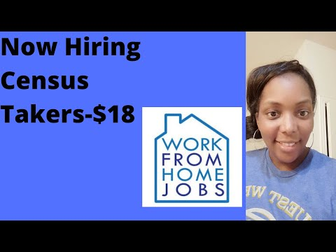 Now Hiring!   2020 Census Jobs – Be A Census Taker (The Work)