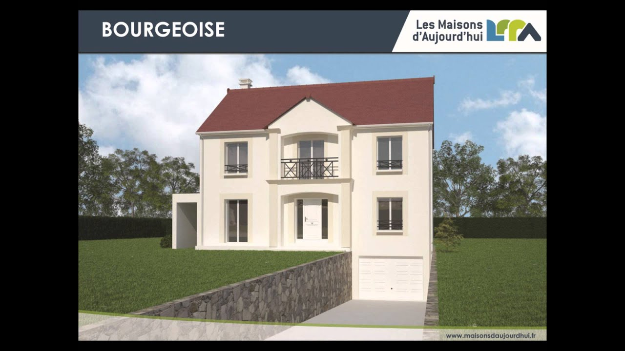 Plan gratuit maison traditionnelle rt2012 avec garage r 1 sous sol total youtube for Maison avec plan