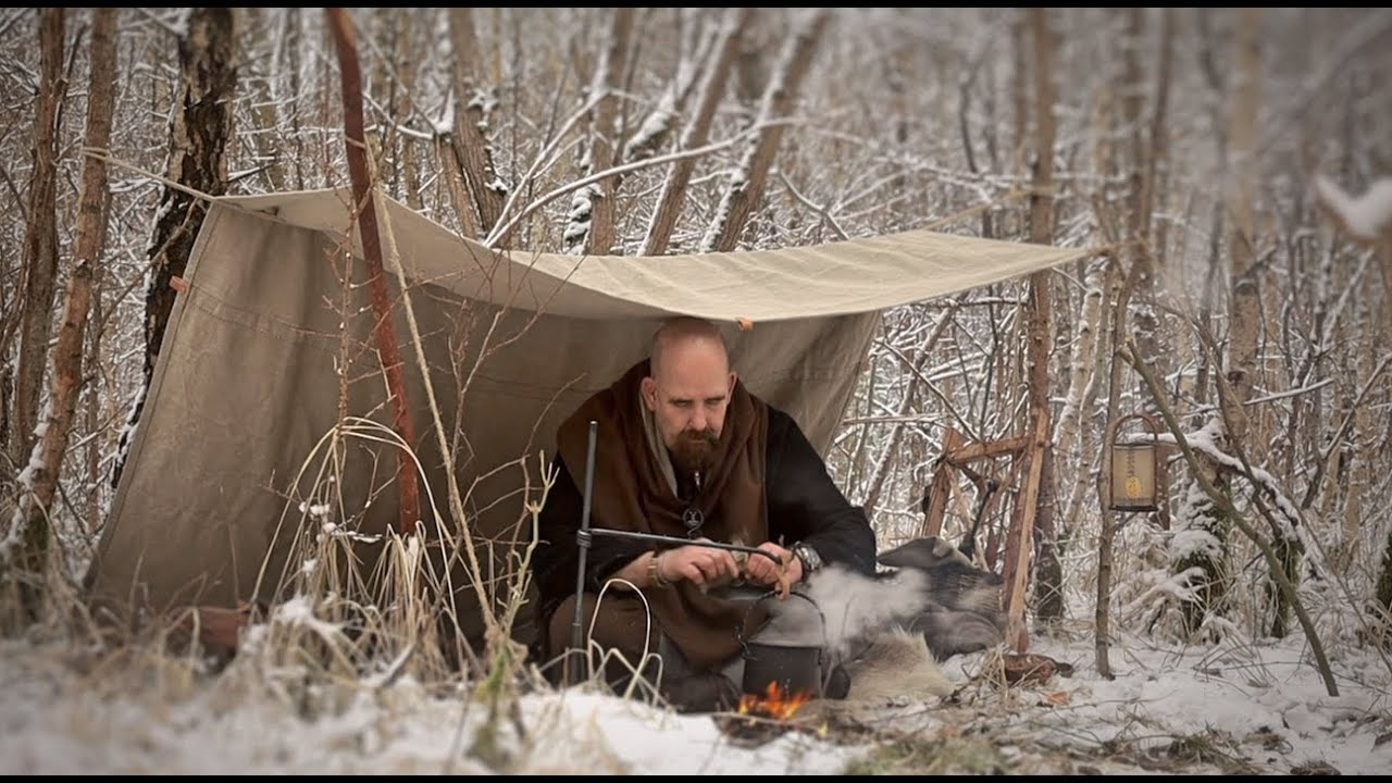 Viking tarp, Elk stew and two DIY projects.