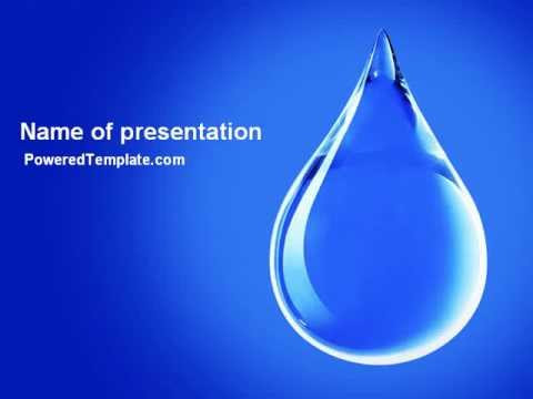 drop of water powerpoint template by poweredtemplatecom