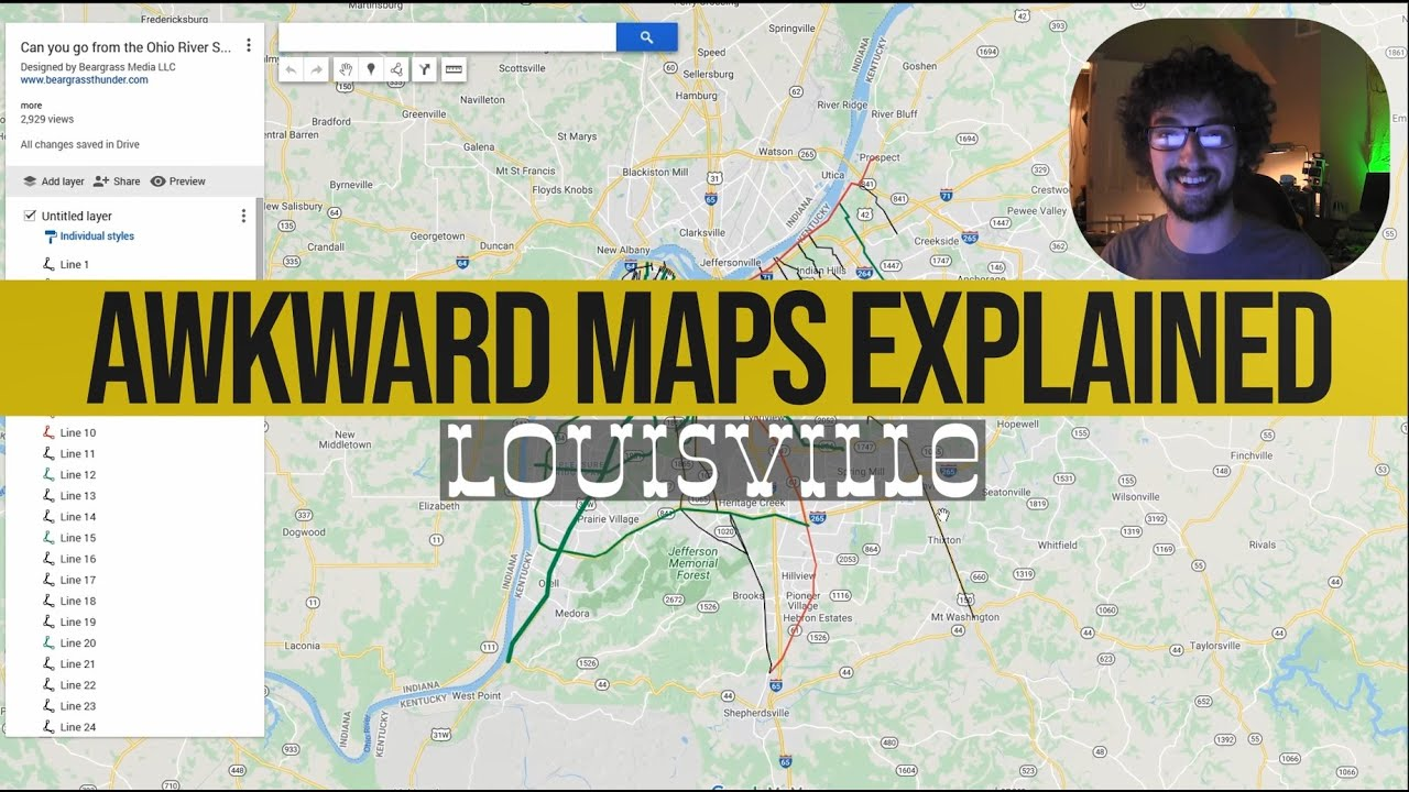 Awkward Maps: Louisville - Heading South from the Ohio River