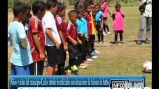 Niños del municipio Carlos Arvelo beneficiados con donaciones de balones de futbol 04-05-2014
