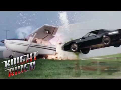 KITT Takes Down a Plane! | Knight Rider