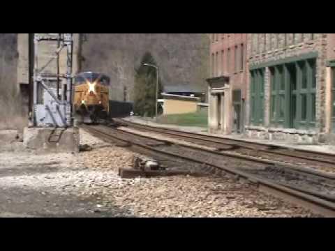 CSX Coal Trains at Thurmond W.Va on Good Friday, April 2nd 2010