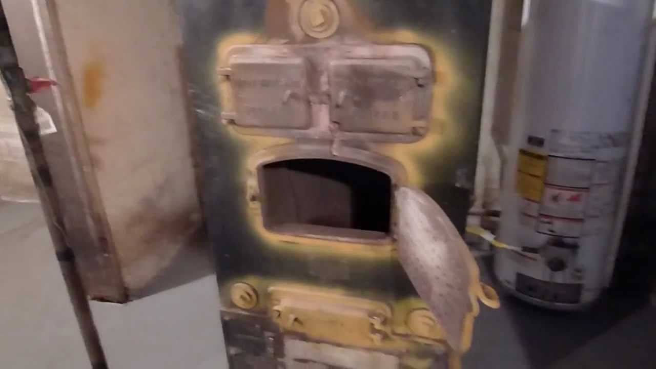 An Encounter with a 75 Year Old Furnace - YouTube