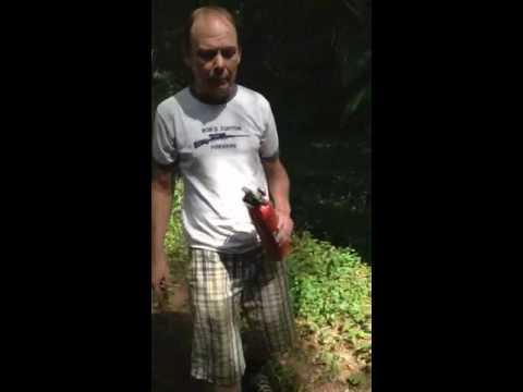 Bob burning poison ivy