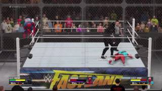 WWE 2K16 with silver HELL IN A CELL!